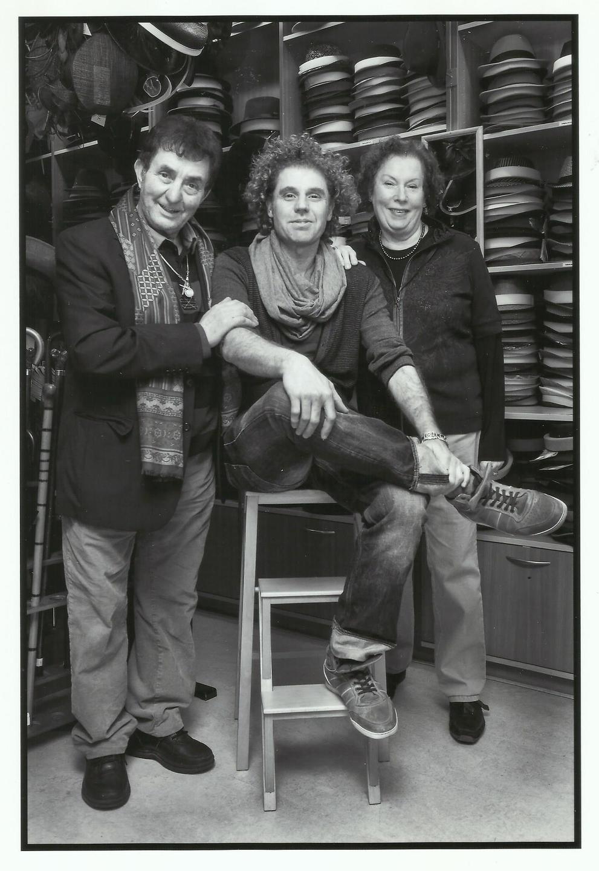 Francesco Baldi met zijn ouders, Hannie en Franco