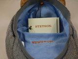 Stetson 'Hatteras' Silk / 326 Bruin lichtblauw visgraat_