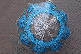 Catalina Estrada  koepelparaplu  BLUE & GREY_