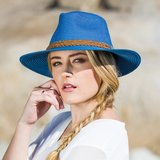 House of Ord GERRY brede rand Fedora BLUE_