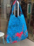 African Wax tas / shopper bag HIBISCUS _