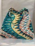 African Wax tas / shopper bag geometric MULTICOLOR _
