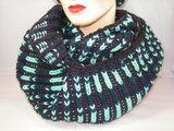 Seeberger 'loop'sjaal bruin mint_