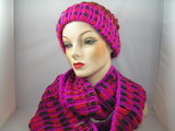 Seeberger 'loop' sjaal rood fuchsia_
