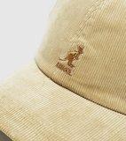 Kangol Cord Baseball Cap BEIGE_