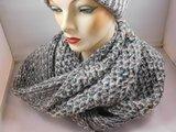 Seeberger 'loop'sjaal creme multi color en lurex_