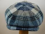 Stetson 'Hatteras' Woolrich ruit blauw_