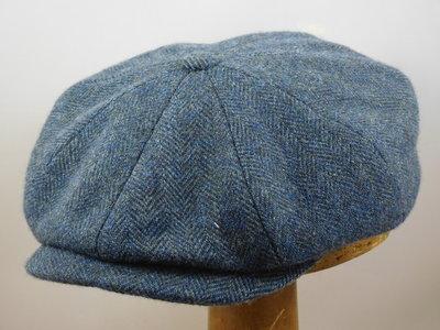 Stetson 'Hatteras' Woolrich / blauw Visgraat