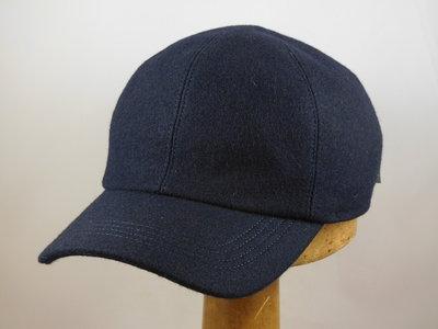 Wigens Baseball Cap met oorklep / wol navy