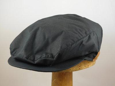 Wigens klassieke regenpet met oorklep / wax zwart