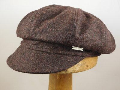 Seeberger Ballonpet 'tweed look' / bruin