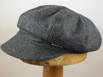 Seeberger Ballonpet 'tweed look' / antraciet