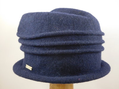 Seeberger cloche ribbels / navy