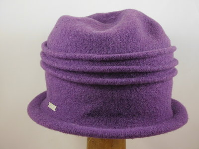 Seeberger cloche ribbels / purper