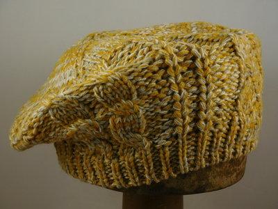 Seeberger baret 'multi color' / gold creme