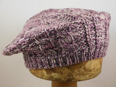 Seeberger baret 'multi color' / pink creme