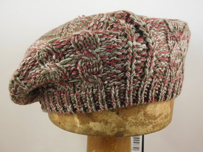 Seeberger baret 'multi color' / bordeaux khaki