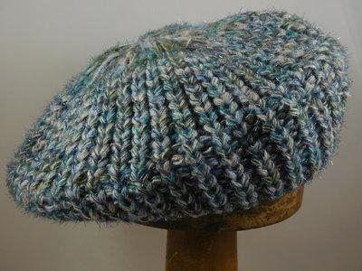 Seeberger baret 'lurex' / blauw