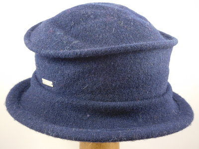 Seeberger cloche brede rand / navy
