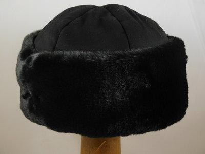 Seeberger muts faux fur / zwart