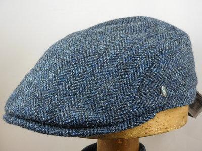City Sport ivypet Harris tweed / visgraat blauw