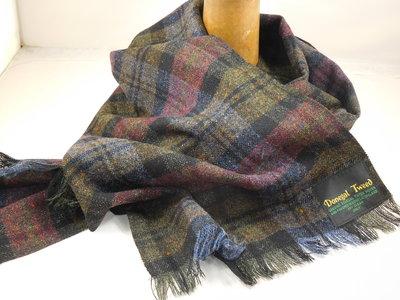 City Sport sjaal donegal tweed / oker bordeaux