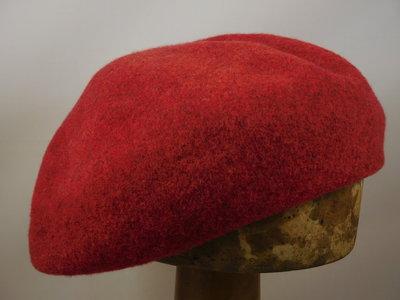 Seeberger toque baret / ruby red
