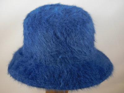 Seeberger Cloche angora / blauw