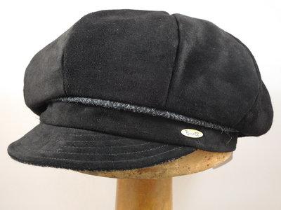 Bronte Suede Damespet / zwart tweed grijs