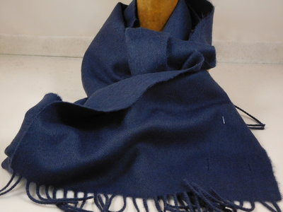 John Hanly sjaal 30 x 180 merinowol navy