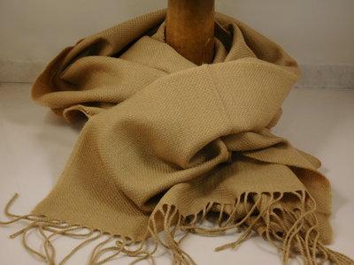 John Hanly sjaal 47 x 220 merinowol beige