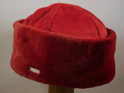 Seeberger muts faux fur / ruby red