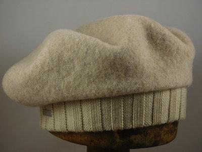 Seeberger baret met rand / sand