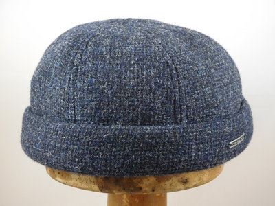 Stetson 'Docker' ruige tweed / blauw