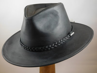 Stetson 'Buffalo' outdoorhoed leder black