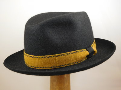 Customized Borsalino Traveller zwart