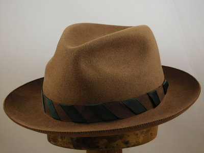 Customized Baldini fedora camel