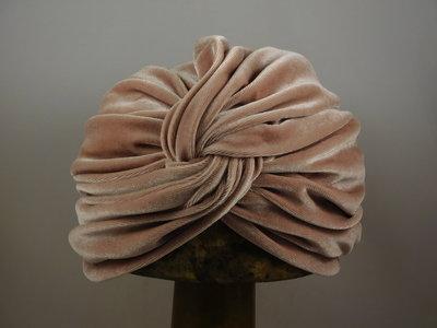 Sopratutto Turban Velvet / nude pink