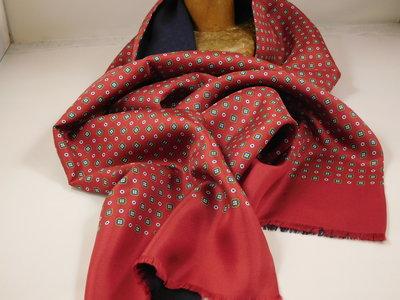 Daspartout sjaal zijde wol bloemetje / rood