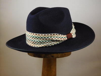 Customized Baldini fedora Navy
