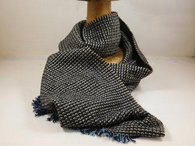 Jos van Dijck sjaal blauw beige