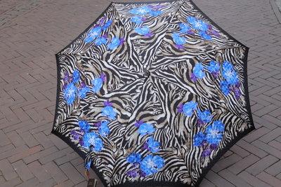 Ezpeleta Deluxe paraplu  ZEBRA met BLAUW