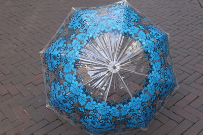Catalina Estrada  koepelparaplu  BLUE & GREY