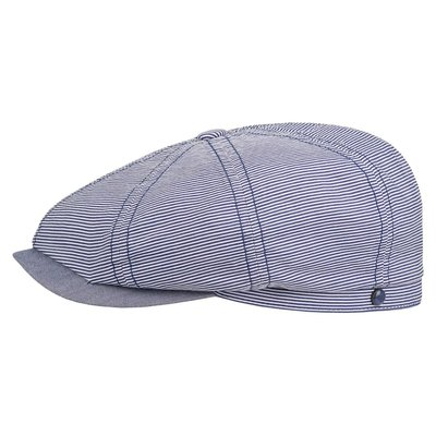Stetson Hatteras Cotton Stripe Marineblue
