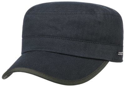 Stetson Army cap Cotton Heringbone Navy