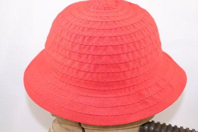 Kinder ribslint hoed ROOD