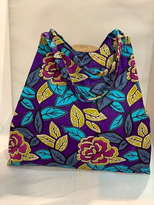 African Wax tas / shopper bag ROSES