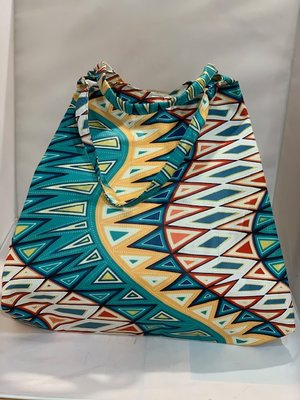 African Wax tas / shopper bag geometric MULTICOLOR