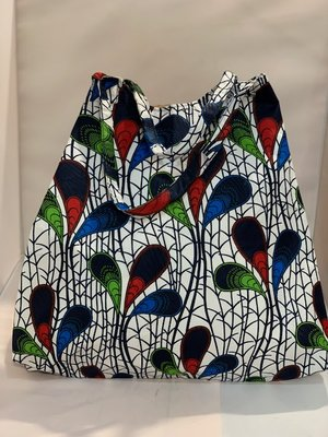 African Wax tas / shopper bag PEACOCK