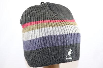 Kangol Beanie pull on ZWART  stripe